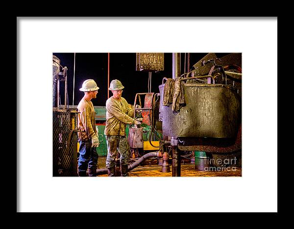 Oil Rig Framed Print featuring the photograph Cac003-27 by Cooper Ross