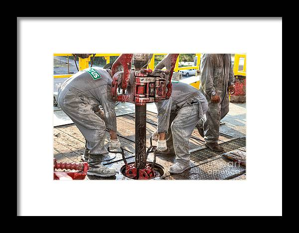 Oil Rig Framed Print featuring the photograph Cac003-59 by Cooper Ross