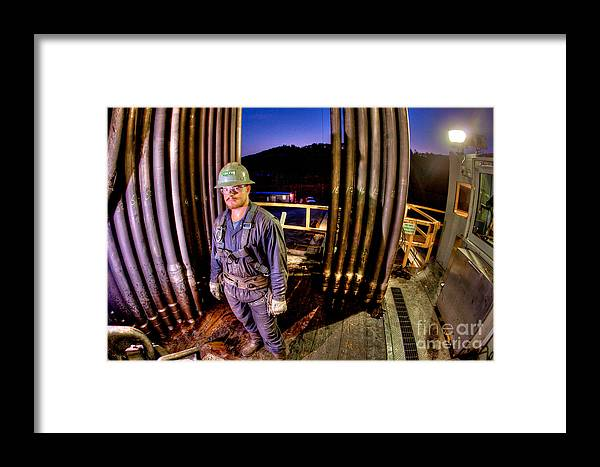 Oil Rig Framed Print featuring the photograph Cac003-9 by Cooper Ross