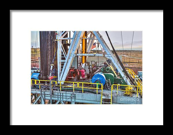Oil Rig Framed Print featuring the photograph Cac005-5 by Cooper Ross