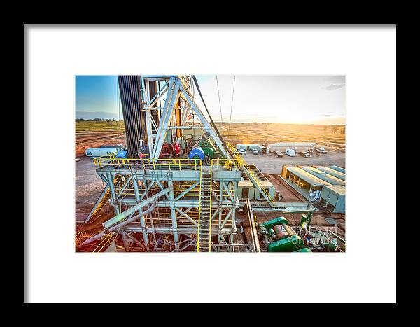 Oil Rig Framed Print featuring the photograph Cac005-6 by Cooper Ross