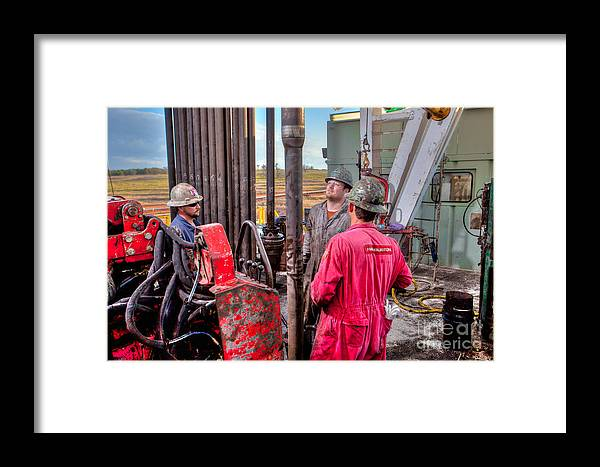 Oil Rig Framed Print featuring the photograph Cac005-7 by Cooper Ross