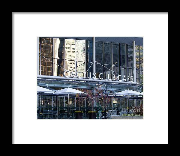 Cactus Club Framed Print featuring the photograph Cactus Club Cafe II by Chris Dutton