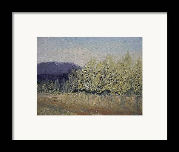 Oil Framed Print featuring the painting Cades Cove by Dwayne Gresham