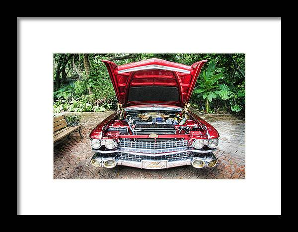 1959 Framed Print featuring the photograph Cadillac Engine by Rudy Umans
