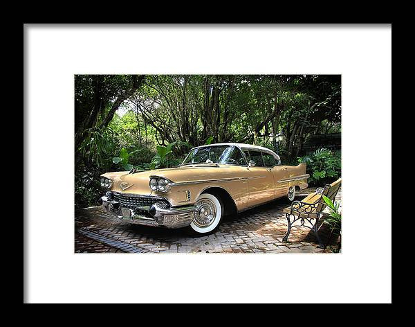 Cadillac Framed Print featuring the photograph Cadillac by Rudy Umans