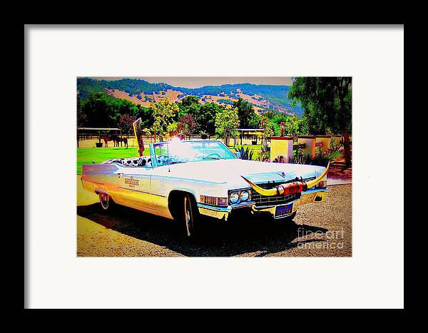 Vintage Framed Print featuring the photograph Cadillac Supreme by Jodie Scheller