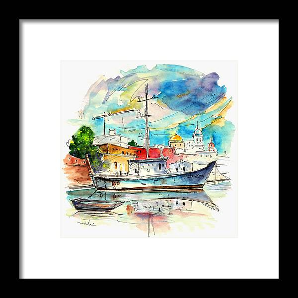 Travel Framed Print featuring the painting Cadiz Spain 10 by Miki De Goodaboom