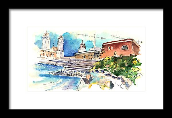 Travel Framed Print featuring the painting Cadiz Spain 11 by Miki De Goodaboom