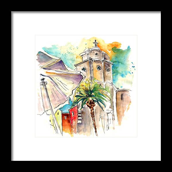 Travel Framed Print featuring the painting Cadiz Spain 12 by Miki De Goodaboom