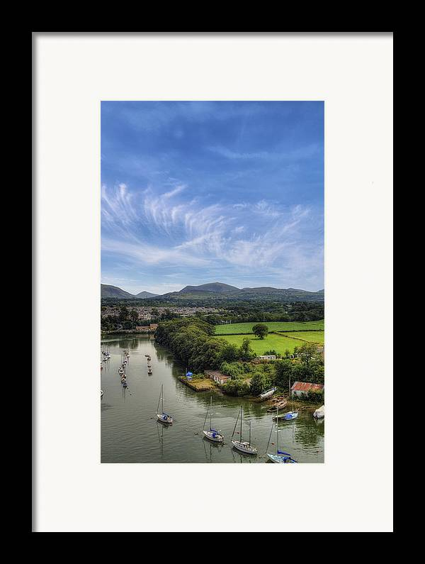 Castle Framed Print featuring the photograph Caernarfon Harbour by Ian Mitchell