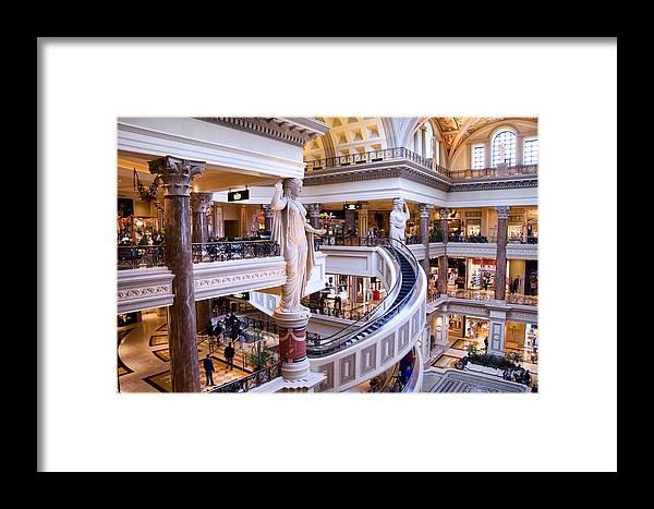Las Vegas Framed Print featuring the photograph Caesars Palace - Las Vegas by Jon Berghoff