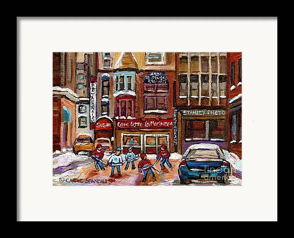 Restaurants Framed Print featuring the painting Cafe Bistro La Marinara by Carole Spandau