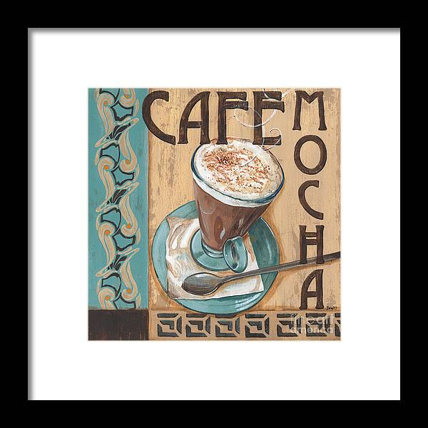 Food Framed Print featuring the painting Cafe Nouveau 1 by Debbie DeWitt