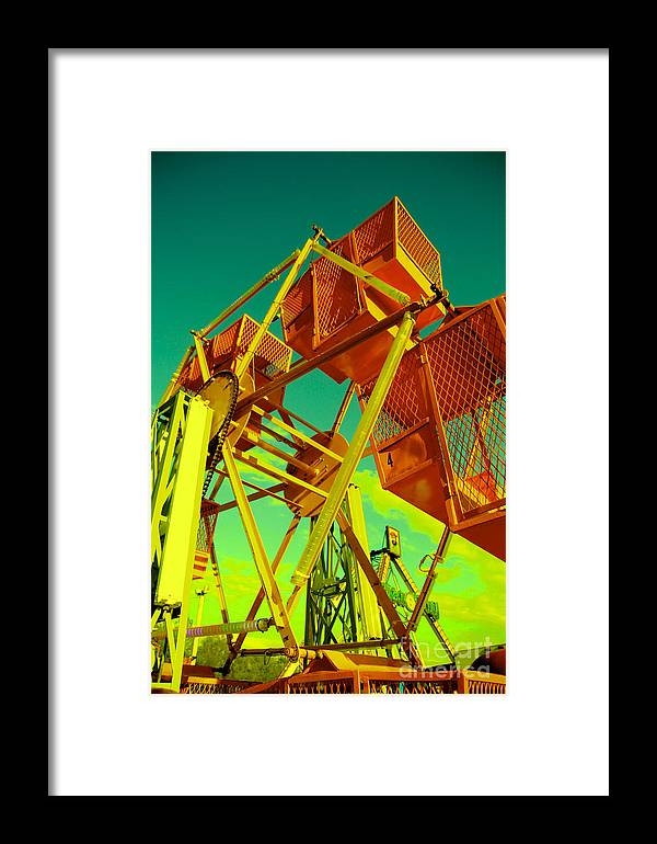 Ferris Wheel Framed Print featuring the photograph Caged Ferris Wheel by Kathleen Fleming