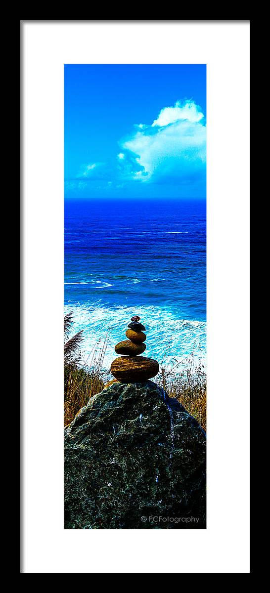 Cairn Framed Print featuring the photograph Cairn Creation by Preston Fiorletta