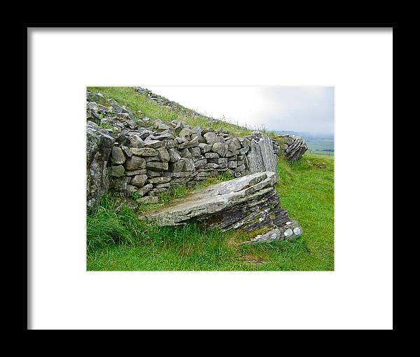 Loughcrew Framed Print featuring the photograph Cairn T - The Hag's Chair by Denise Mazzocco