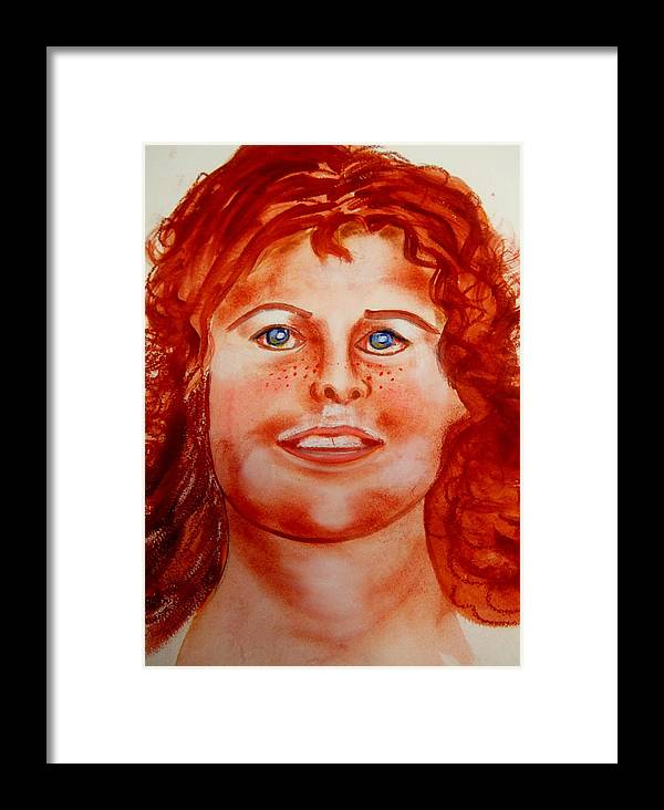 People Framed Print featuring the painting Caitlin Macnamara by Rusty Gladdish