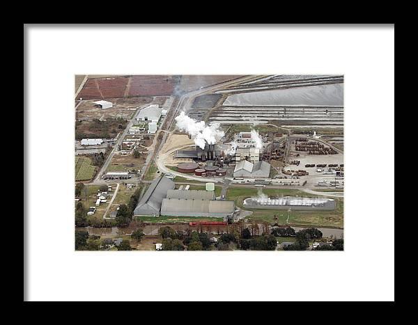 Cajun Sugar Coop. Louisiana Sugar Mill Framed Print featuring the photograph Cajun Sugar Coop. by Ronald Olivier