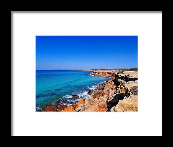 Formentera Framed Print featuring the photograph Cala Saona On Formentera by Karol Kozlowski