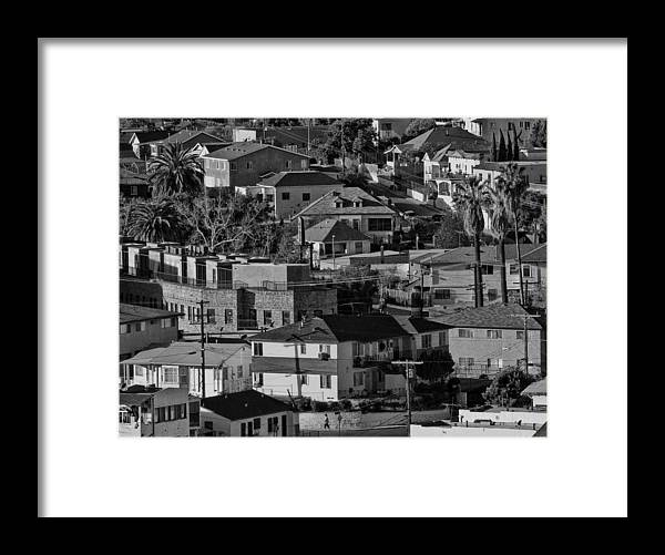 Black And White Framed Print featuring the photograph California Casbah by Guillermo Rodriguez