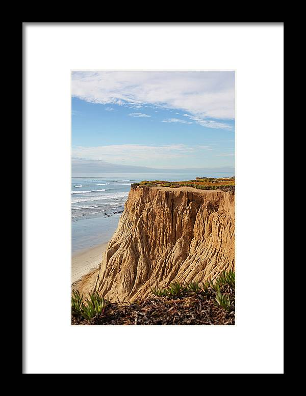 Water's Edge Framed Print featuring the photograph California Coast by Bill Oxford