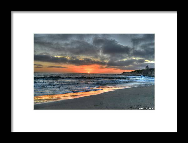 Santa Cruz Framed Print featuring the photograph California Sunset by Patricia Dennis