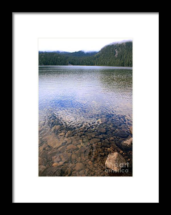 Lake Framed Print featuring the photograph Callaghan Lake Stones by Amanda Holmes Tzafrir