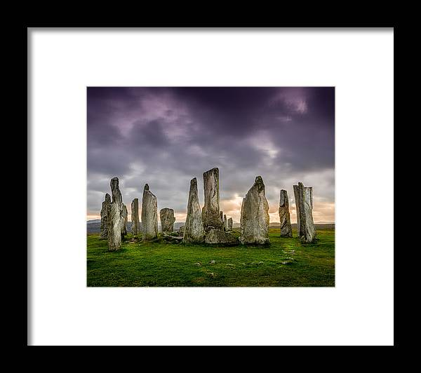 Callanish Framed Print featuring the photograph Callanish Stones by Peter OReilly