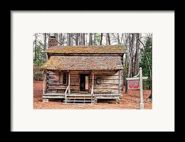 Callaway gardens pioneer log cabin framed print by vizual studio for Callaway gardens cabin rentals