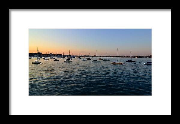 Framed Print featuring the photograph Calm Atlantic by Mithun Das