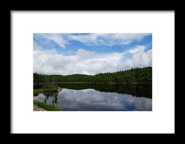 Calm Lake Framed Print featuring the photograph Calm Lake - Turbulent Sky by Georgia Mizuleva