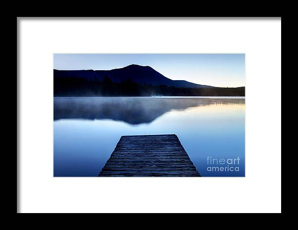 Lake Framed Print featuring the photograph Calm Pond With Boardwalk by Denis Tangney Jr
