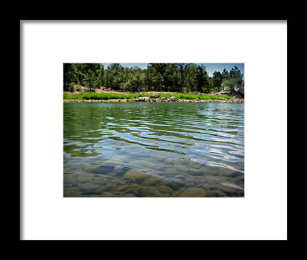 Goldwater Lake Framed Print featuring the photograph Calm Waters by Aaron Burrows