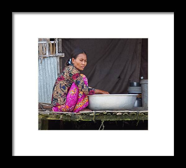 Cambodia Framed Print featuring the photograph Laundry Day by David Freuthal