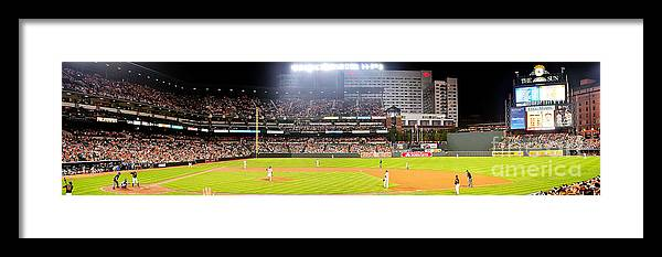 Baltimore Framed Print featuring the photograph Camden Yards Baltimore Md by Michael Baltzgar