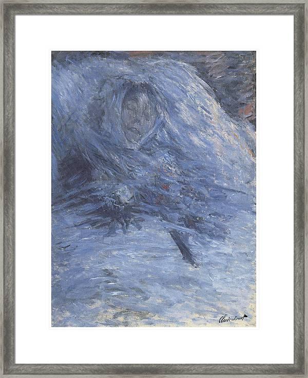 Claude Monet Camille Monet on her deathbed art print