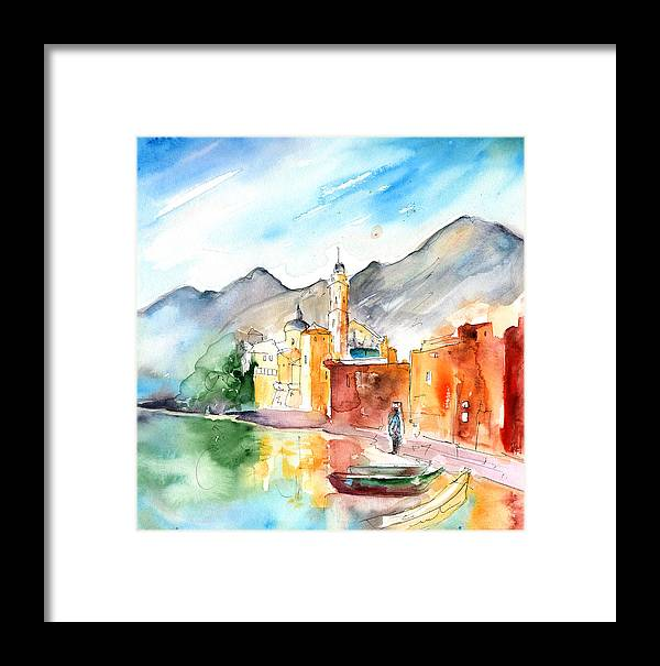 Italy Framed Print featuring the painting Camogli In Italy 11 by Miki De Goodaboom