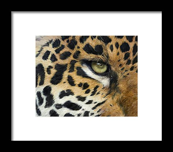 Jaguar Framed Print featuring the painting Camouflage by Lucie Bilodeau