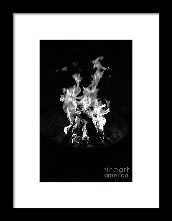 Fire Framed Print featuring the photograph Camp Fire by Joe Galura