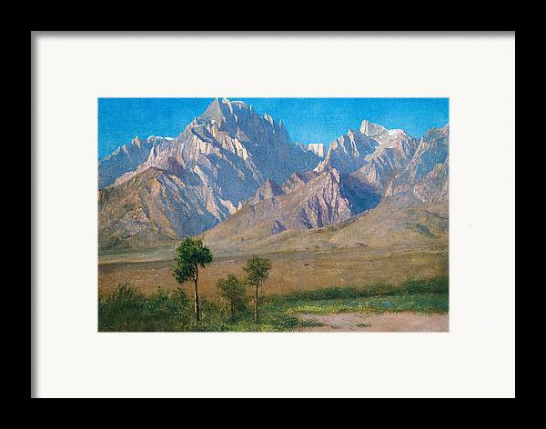 American Landscape Framed Print featuring the painting Camp Independence Colorado by Albert Bierstadt