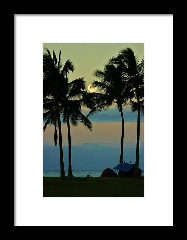 Camping Out Framed Print featuring the photograph Camping Out Hawaii Style by Craig Wood