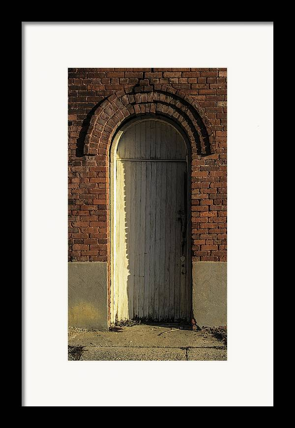 White Framed Print featuring the photograph Can I Come In by Steven Taylor