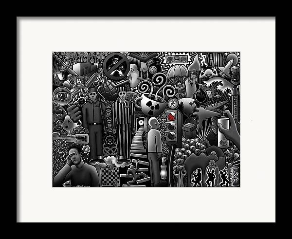 Stairs Framed Print featuring the digital art Can 'o' Worms by Matthew Ridgway