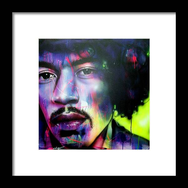 Jimi Hendrix Framed Print featuring the painting Can You Hear Me? by Christian Chapman Art