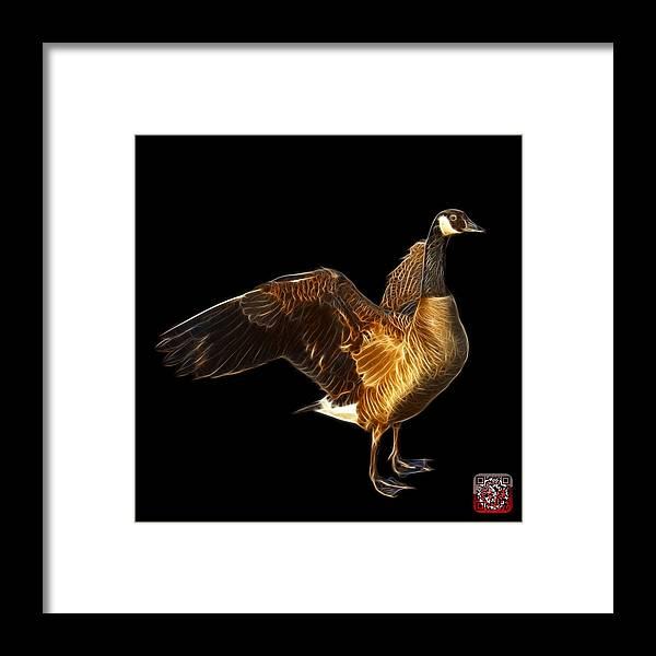Canada Goose Framed Print featuring the digital art Canada Goose Pop Art - 7585 - Bb by James Ahn