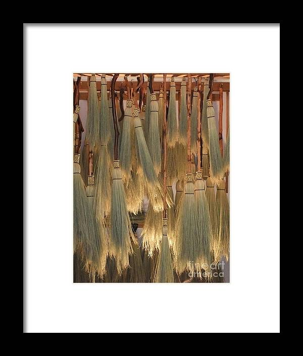 Canada Framed Print featuring the photograph Canada Vancouver Brooms by Coventry Wildeheart
