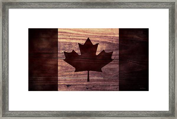 Canadian Flag I Framed Print By April Moen
