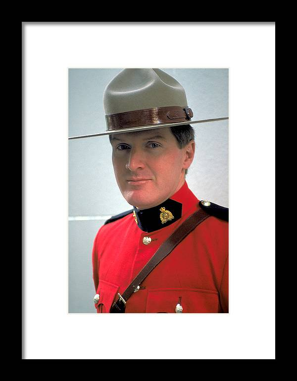 Canadian Framed Print featuring the photograph Canadian Mounted Police by Carl Purcell