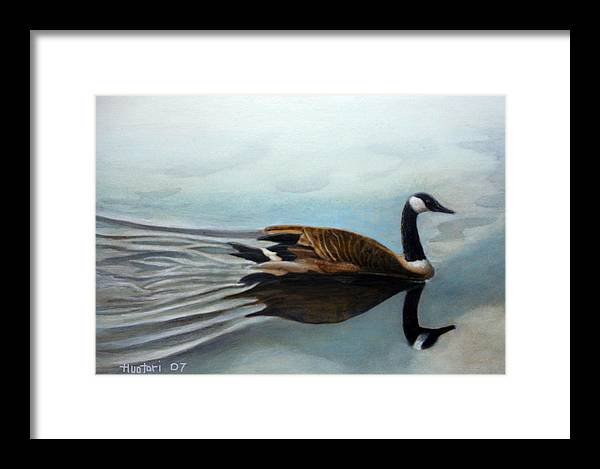Rick Huotari Framed Print featuring the painting Canadian On The St. Croix by Rick Huotari